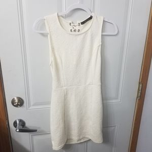 White size small fitted Ark & Co dress